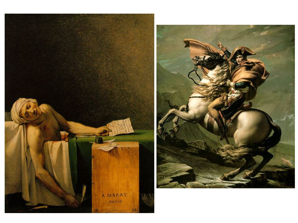 Zavraždění Marata; Napoleon v průsmyku sv. Bernarda