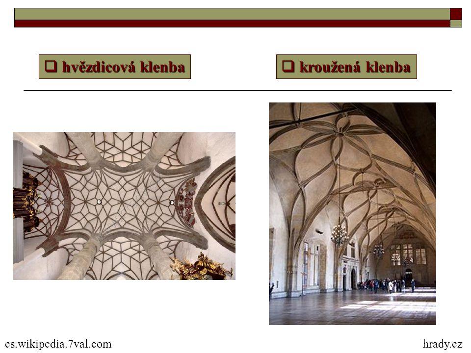 hvězdicová klenba kroužená klenba cs.wikipedia.7val.com hrady.cz