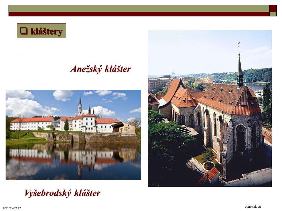 kláštery Anežský klášter Vyšebrodský klášter simonak.eu zemesveta.cz