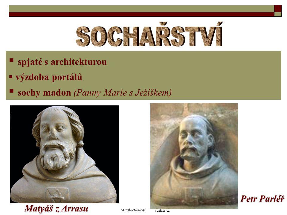 SOCHAŘSTVÍ spjaté s architekturou sochy madon (Panny Marie s Ježíškem)