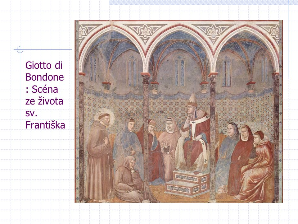 Giotto di Bondone: Scéna ze života sv. Františka