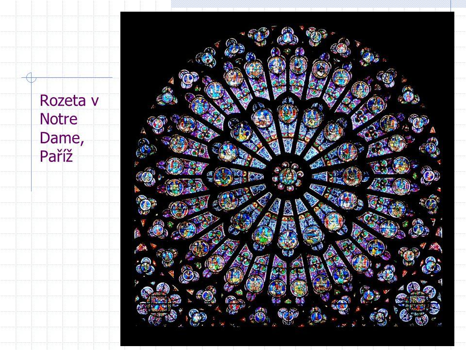 Rozeta v Notre Dame, Paříž