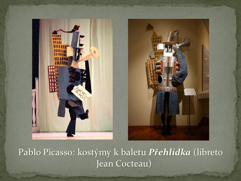 Pablo Picasso: kostýmy k baletu Přehlídka (libreto Jean Cocteau)