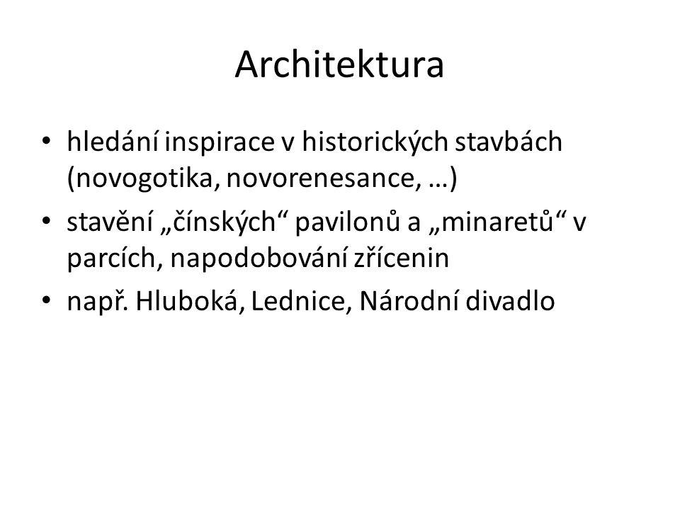 Architektura hledání inspirace v historických stavbách (novogotika, novorenesance, …)