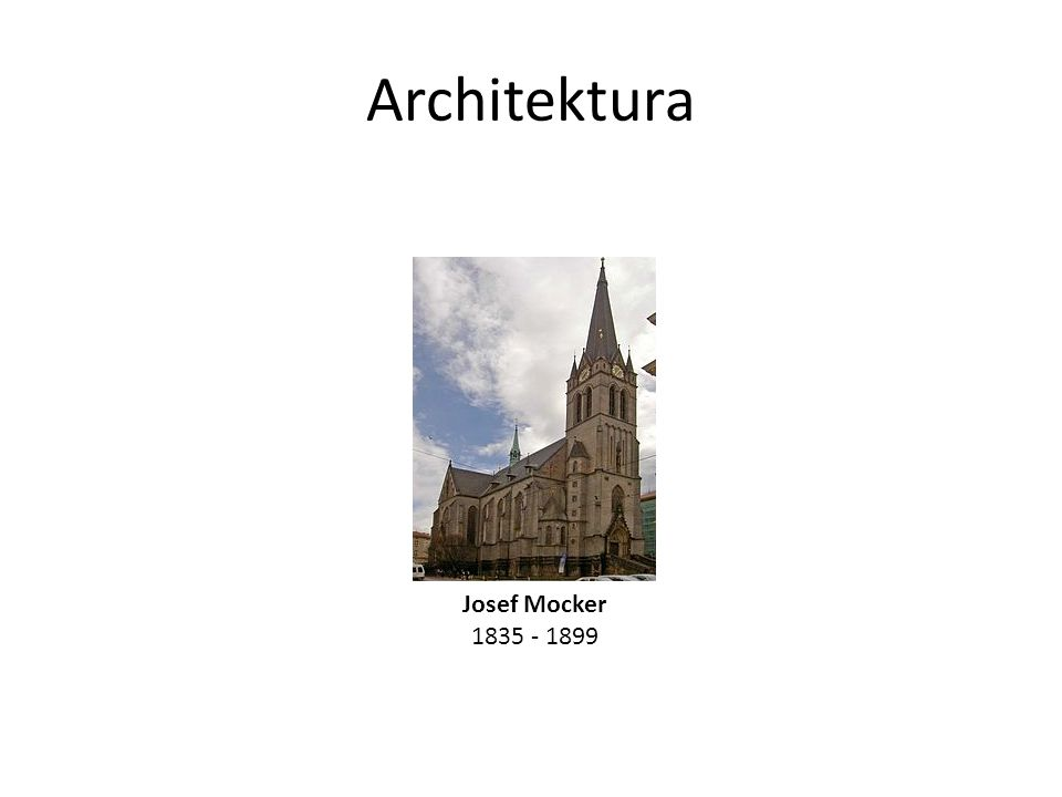 Architektura Josef Mocker
