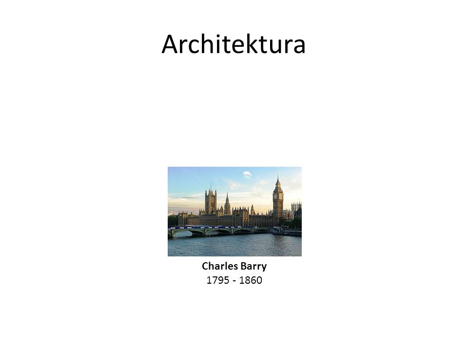 Architektura Charles Barry