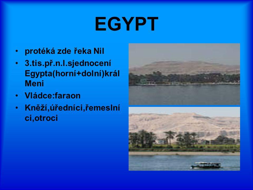 EGYPT protéká zde řeka Nil