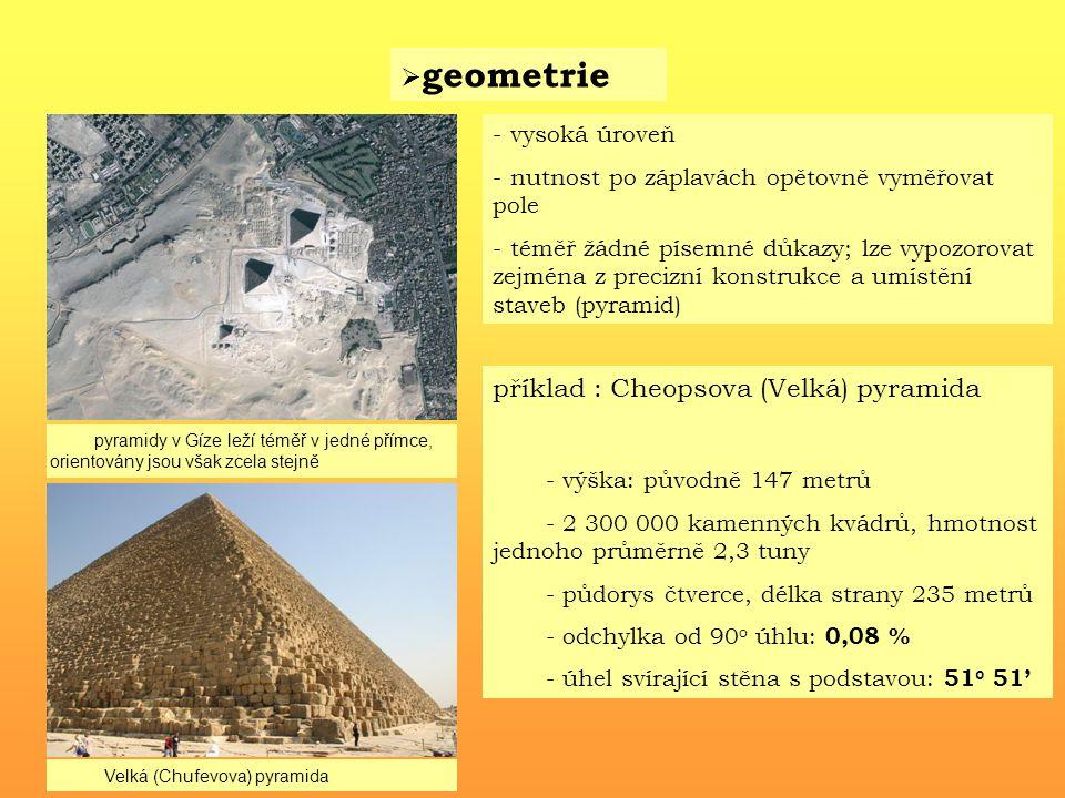 příklad : Cheopsova (Velká) pyramida