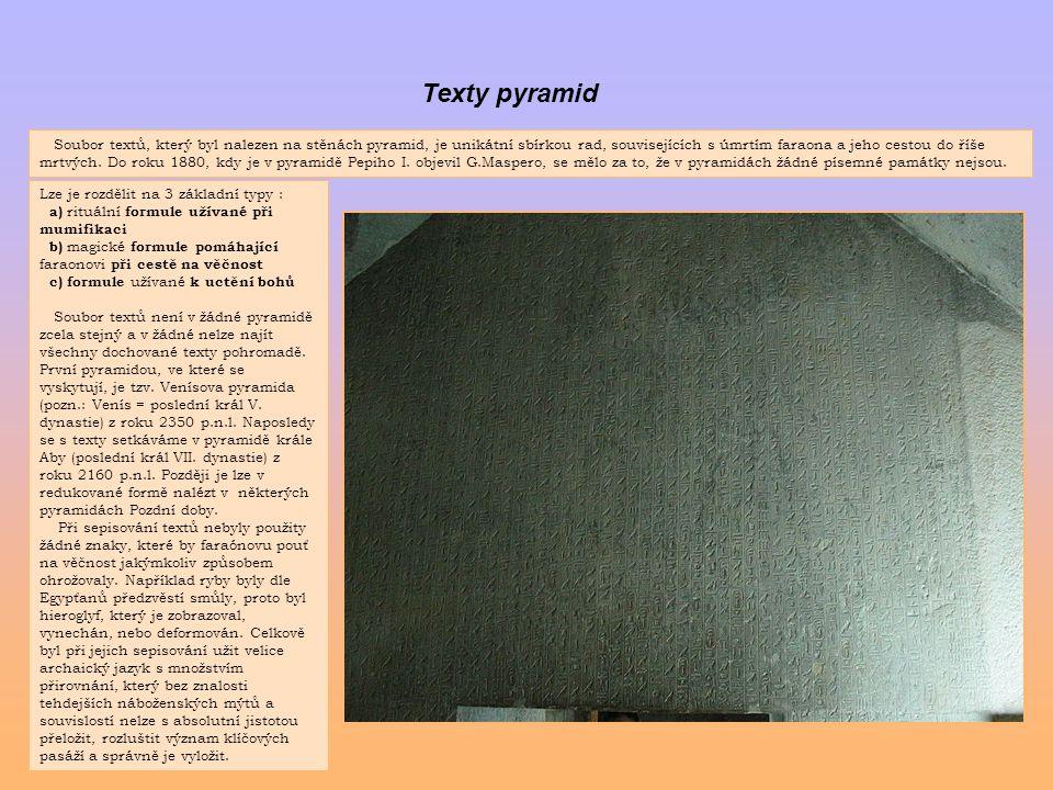 Texty pyramid
