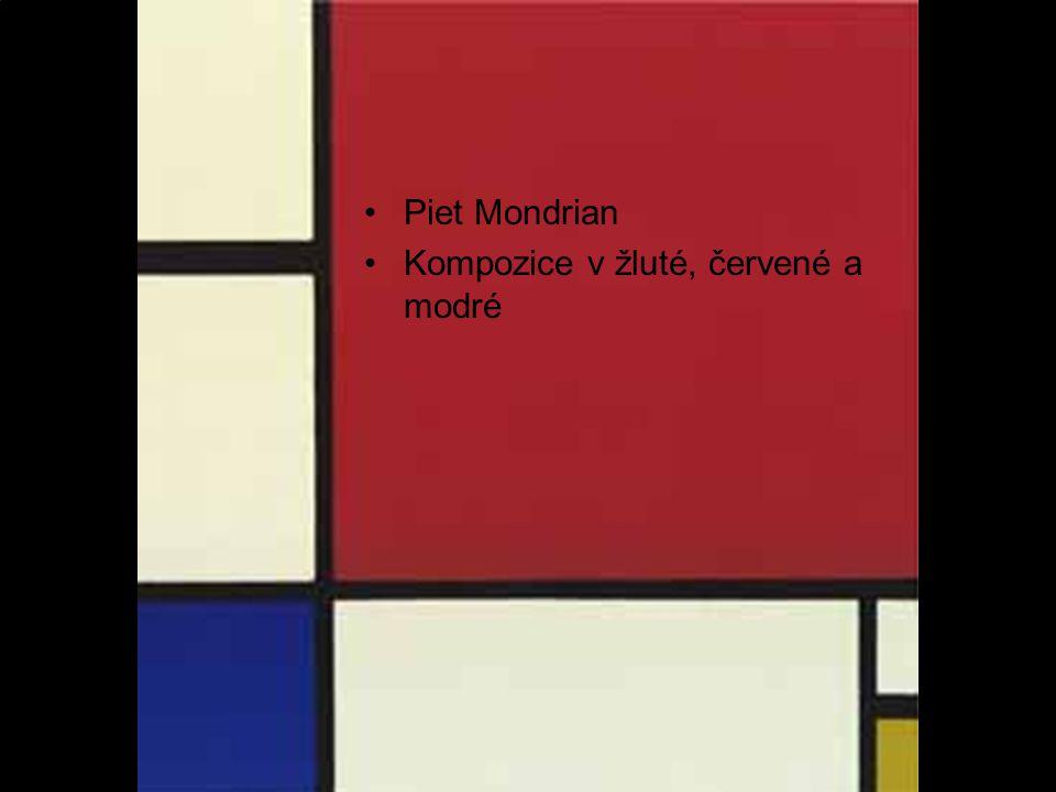 Kompozice v žluté, červené a modré