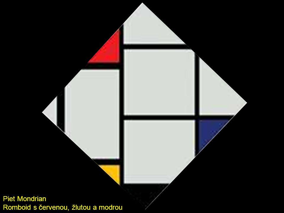 Romboid s červenou, žlutou a modrou