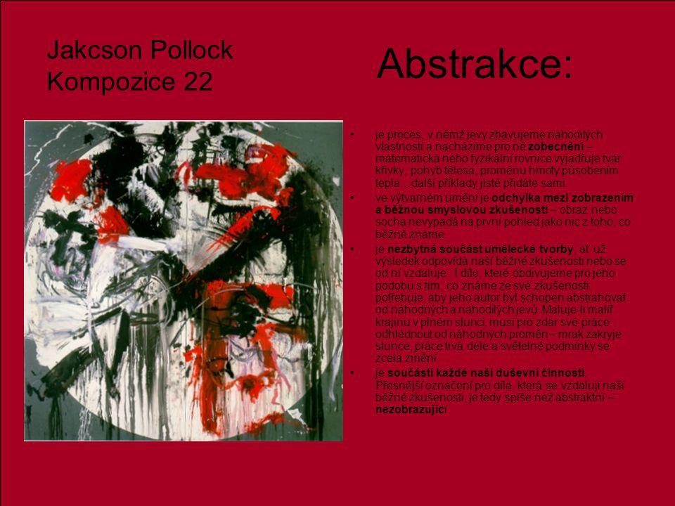 Abstrakce: Jakcson Pollock Kompozice 22