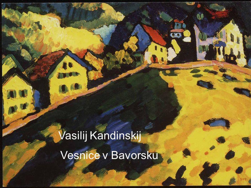 Vasilij Kandinskij Vesnice v Bavorsku