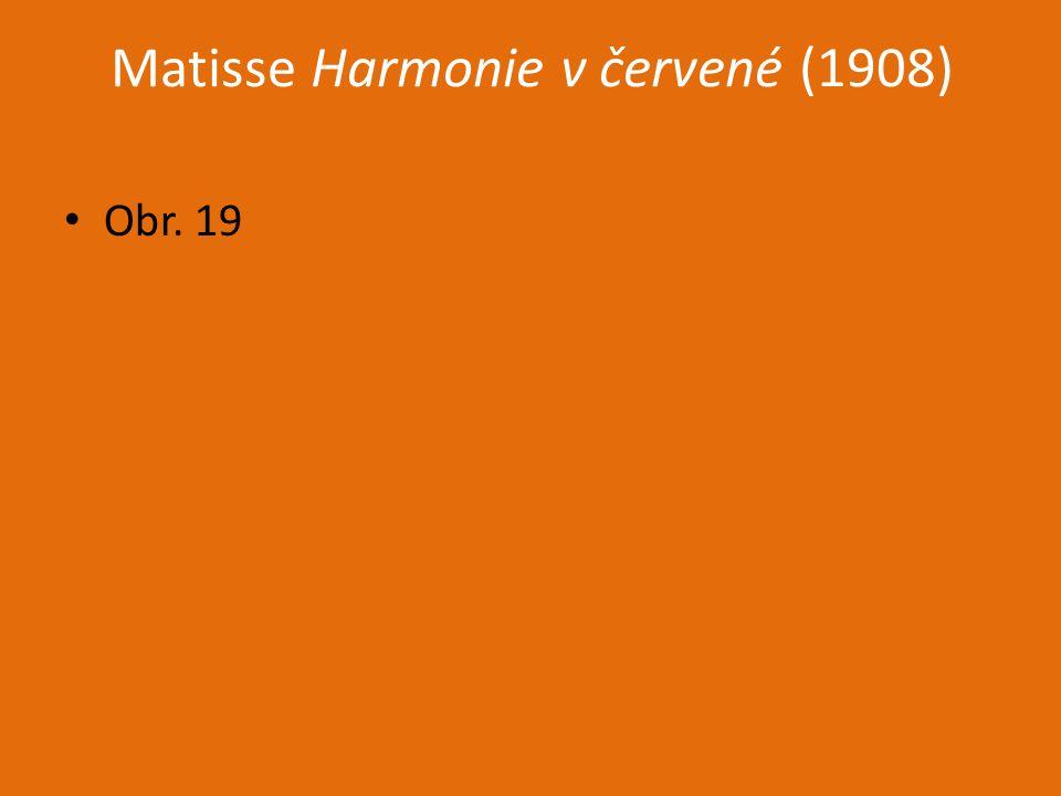 Matisse Harmonie v červené (1908)