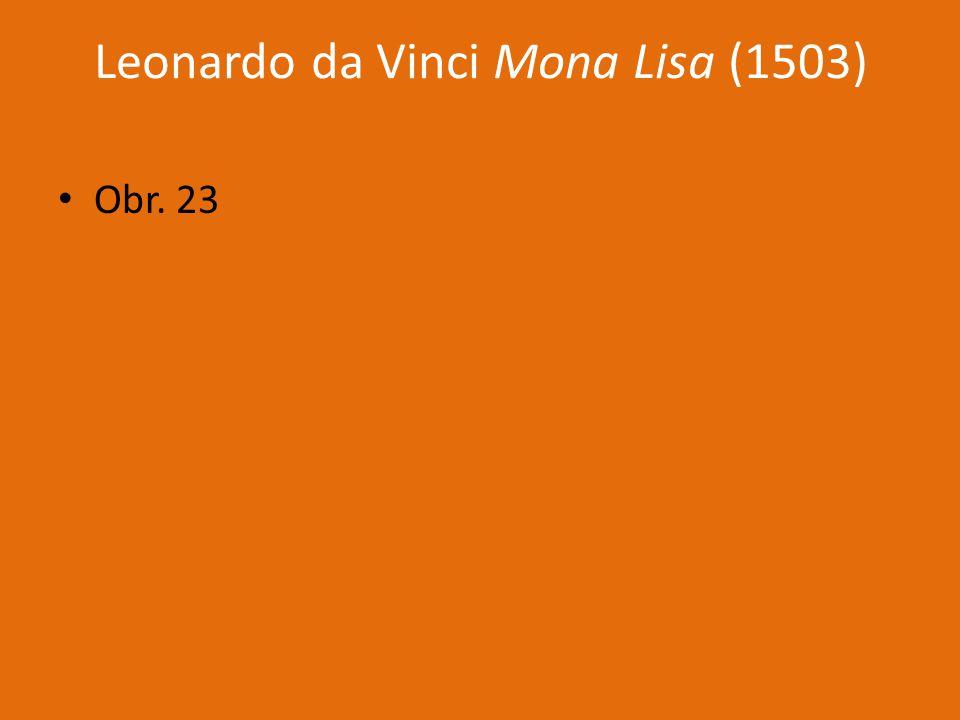 Leonardo da Vinci Mona Lisa (1503)