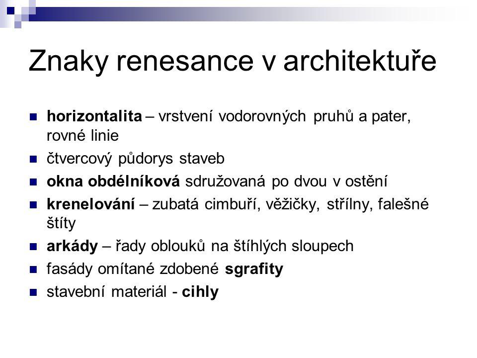Znaky renesance v architektuře