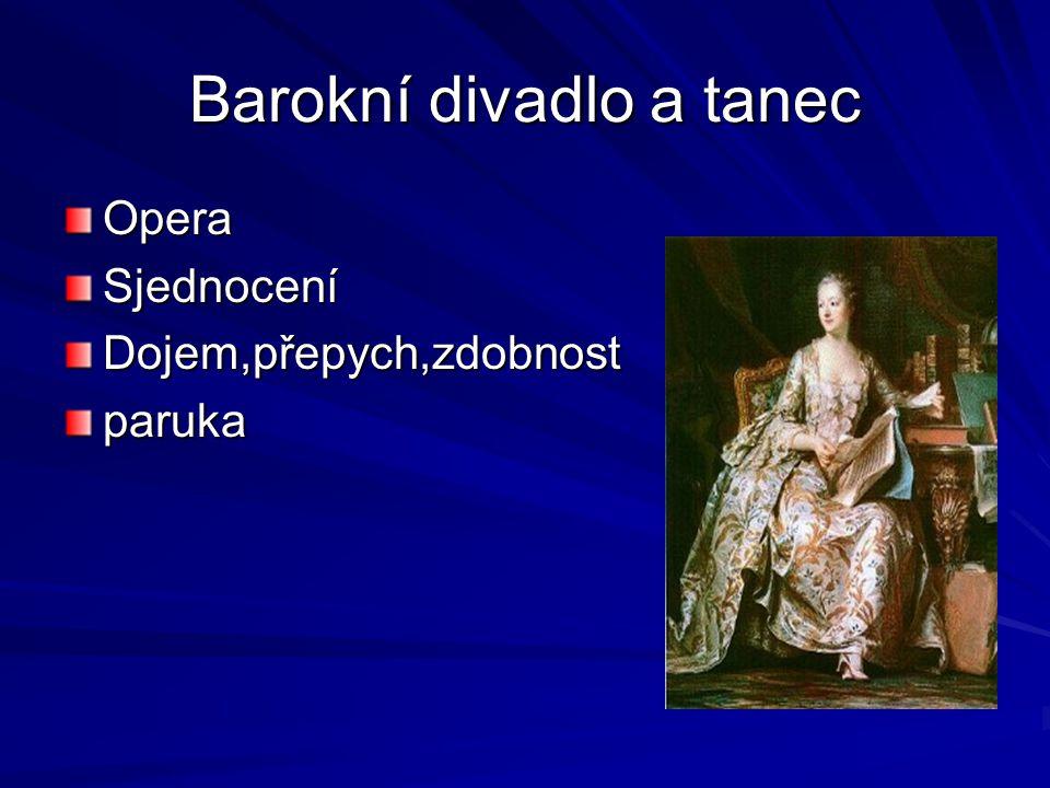 Barokní divadlo a tanec