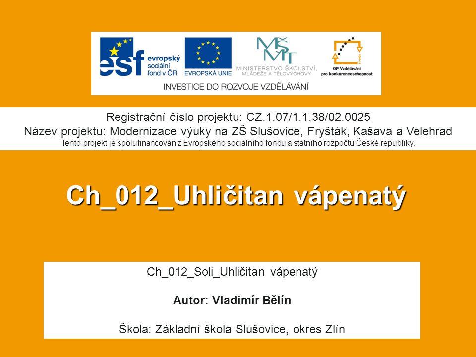 Ch_012_Uhličitan vápenatý