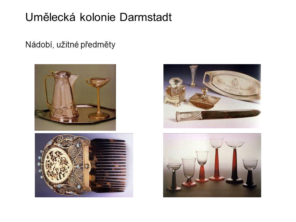 Umělecká kolonie Darmstadt Nádobí, užitné předměty