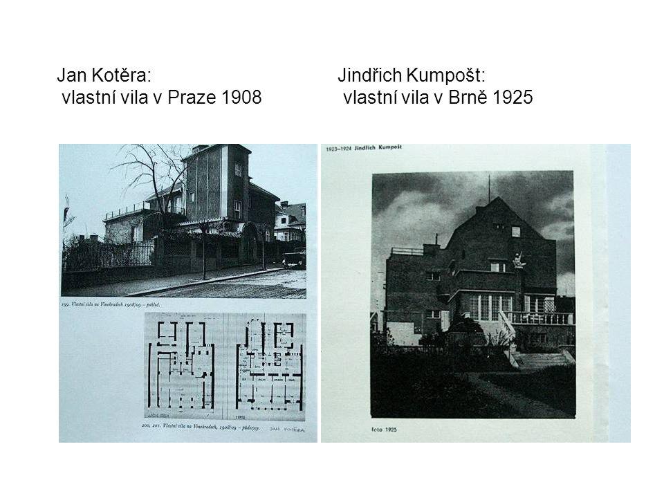 Jan Kotěra:. Jindřich Kumpošt: vlastní vila v Praze 1908