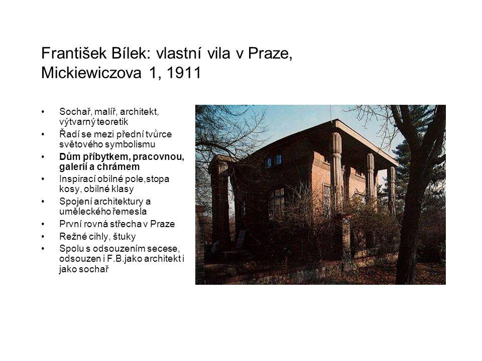 František Bílek: vlastní vila v Praze, Mickiewiczova 1, 1911