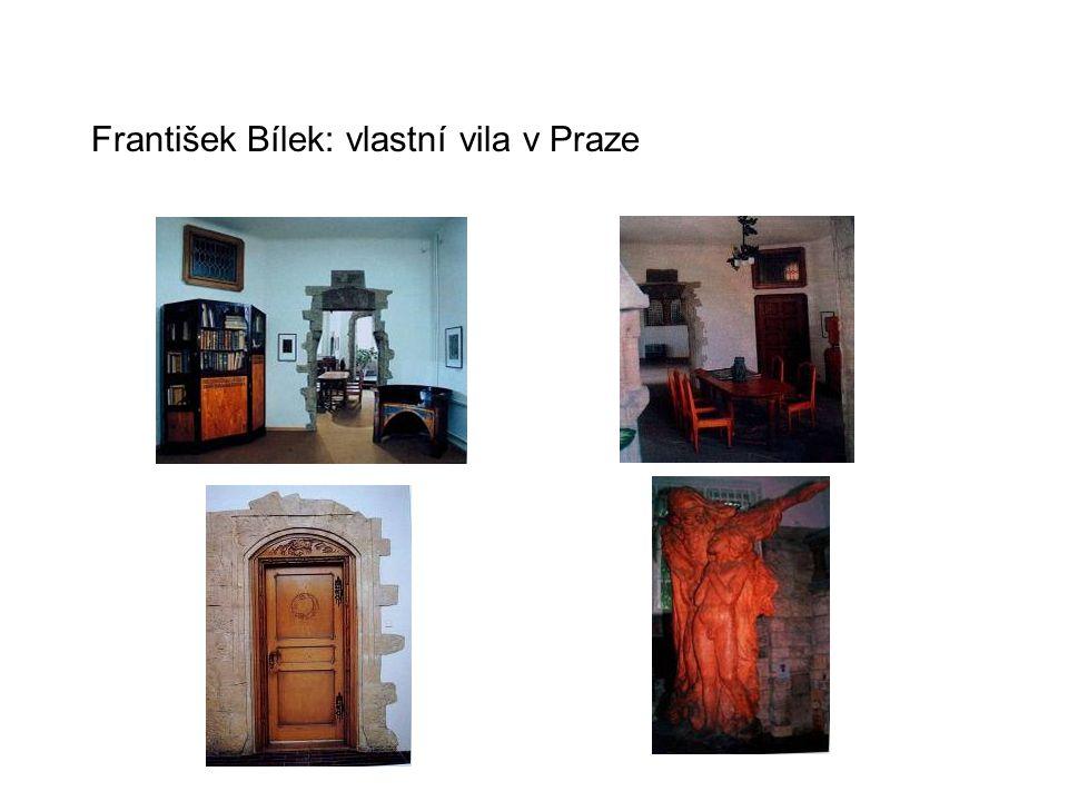 František Bílek: vlastní vila v Praze
