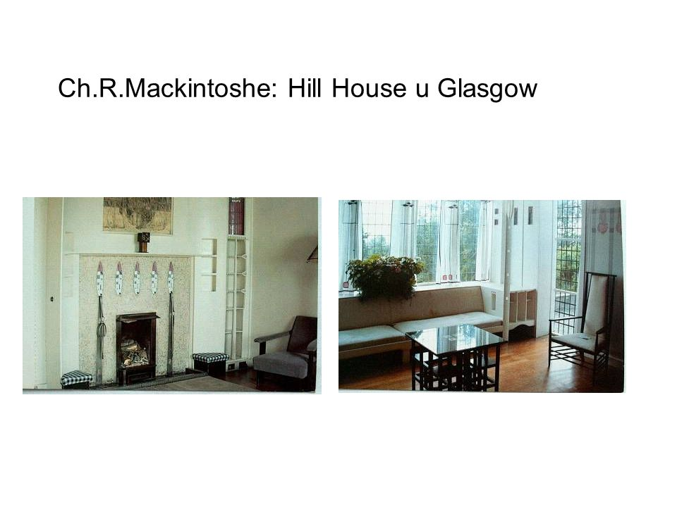 Ch.R.Mackintoshe: Hill House u Glasgow