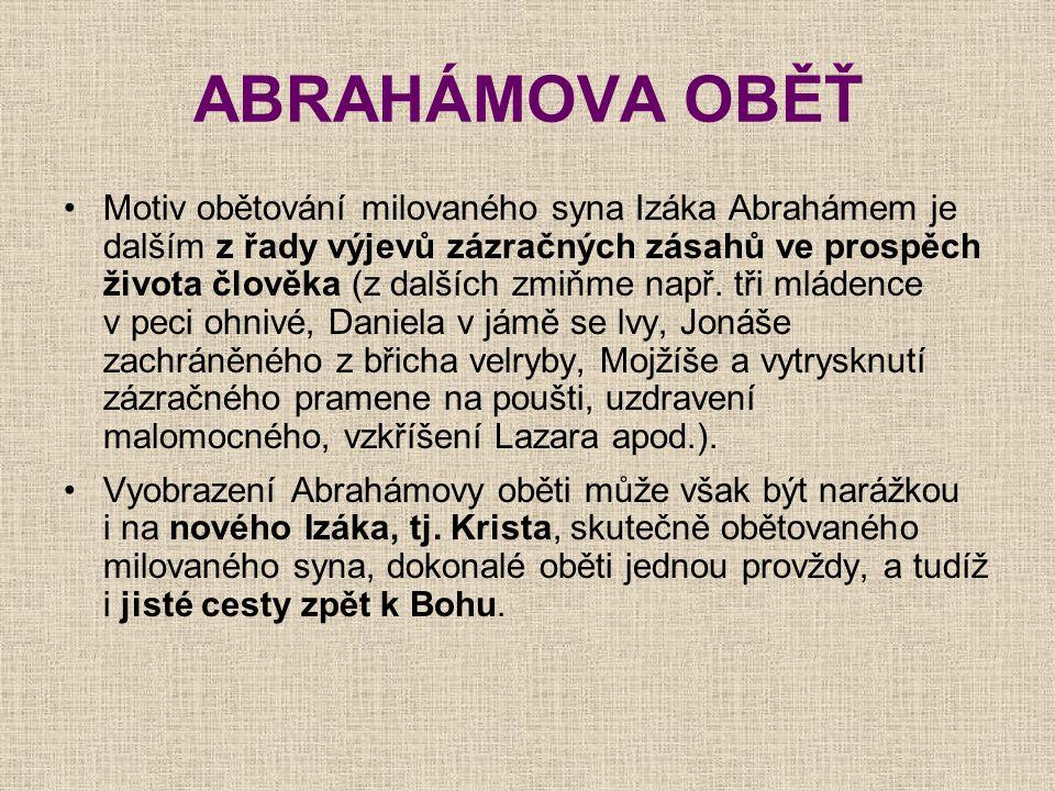 ABRAHÁMOVA OBĚŤ