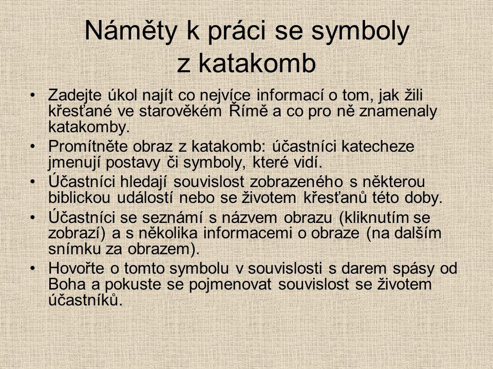 Náměty k práci se symboly z katakomb