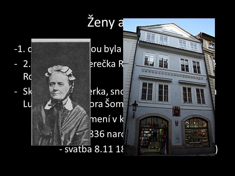 Ženy a syn -1. doloženou láskou byla Marinka Stichová.