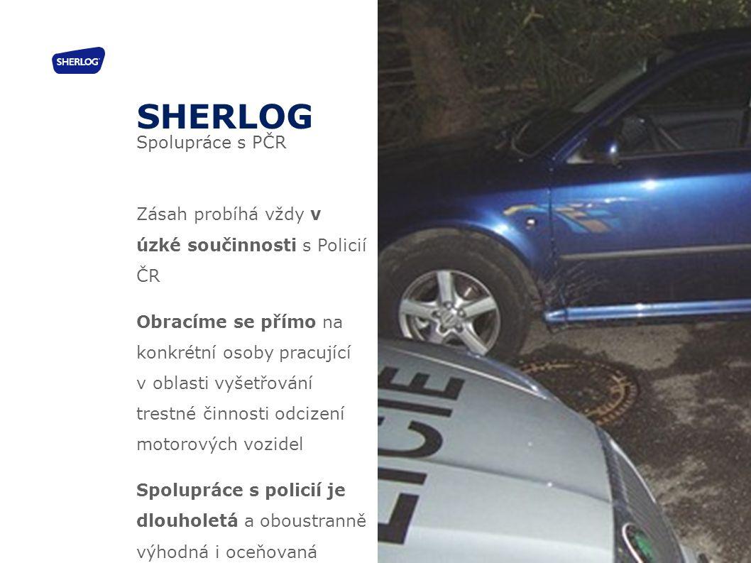 SHERLOG Spolupráce s PČR