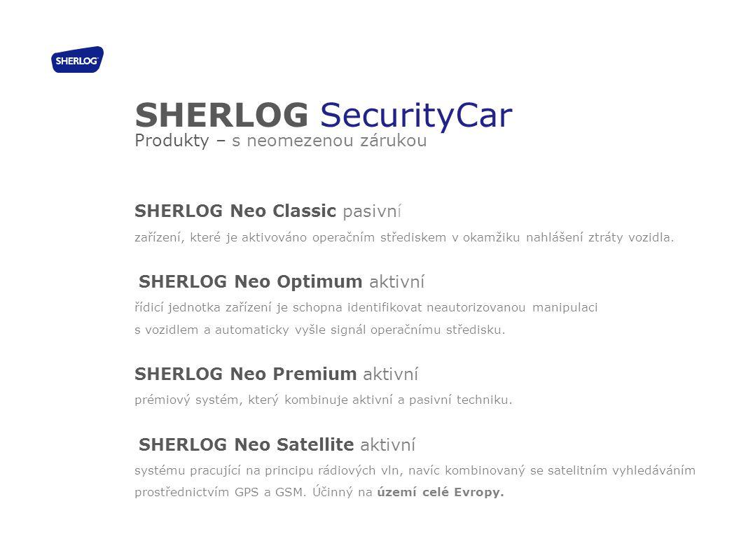 SHERLOG SecurityCar Produkty – s neomezenou zárukou
