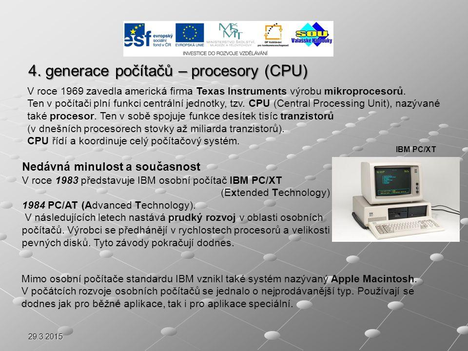 4. generace počítačů – procesory (CPU)