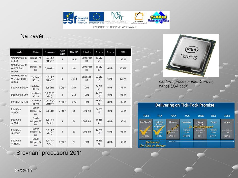 Na závěr…. Srovnání procesorů 2011