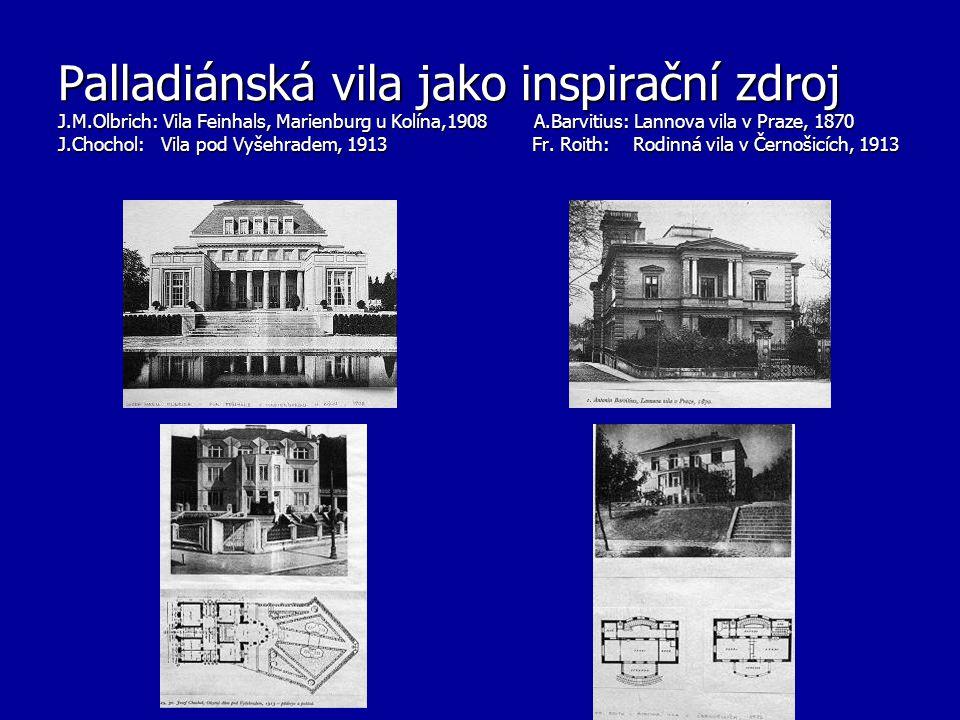 Palladiánská vila jako inspirační zdroj J. M