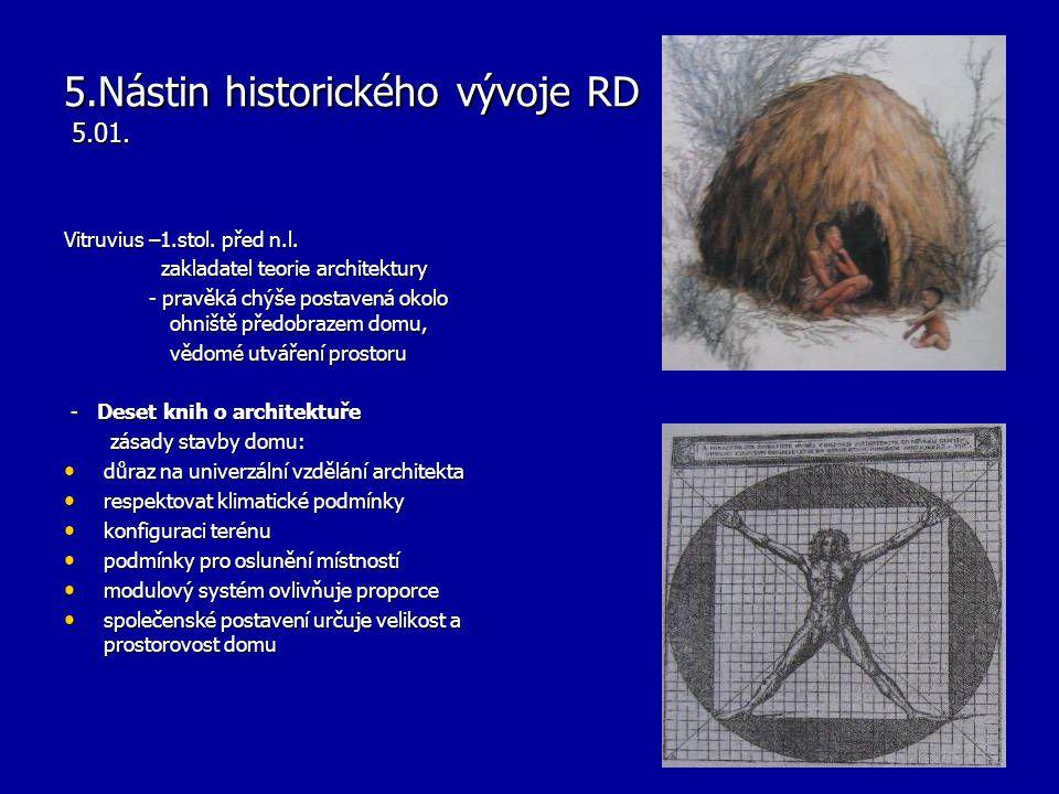 5.Nástin historického vývoje RD 5.01.