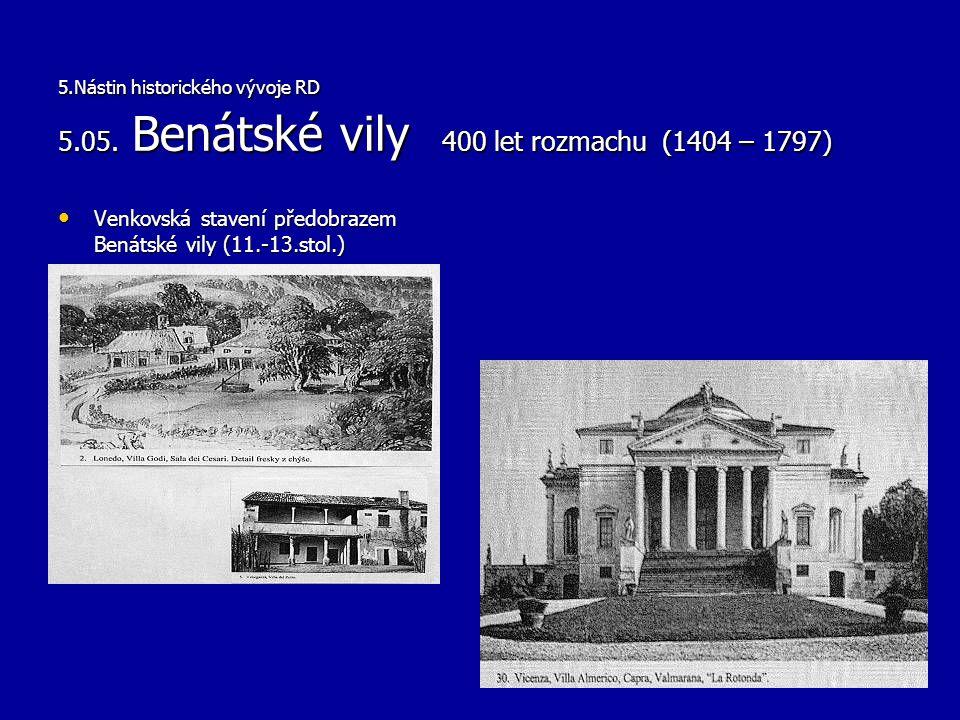 Venkovská stavení předobrazem Benátské vily (11.-13.stol.)
