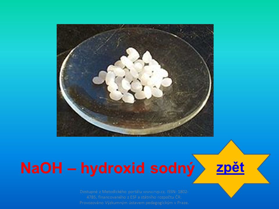 NaOH – hydroxid sodný zpět
