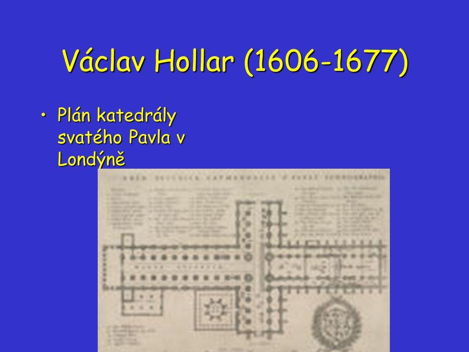 Václav Hollar (1606-1677) Plán katedrály svatého Pavla v Londýně