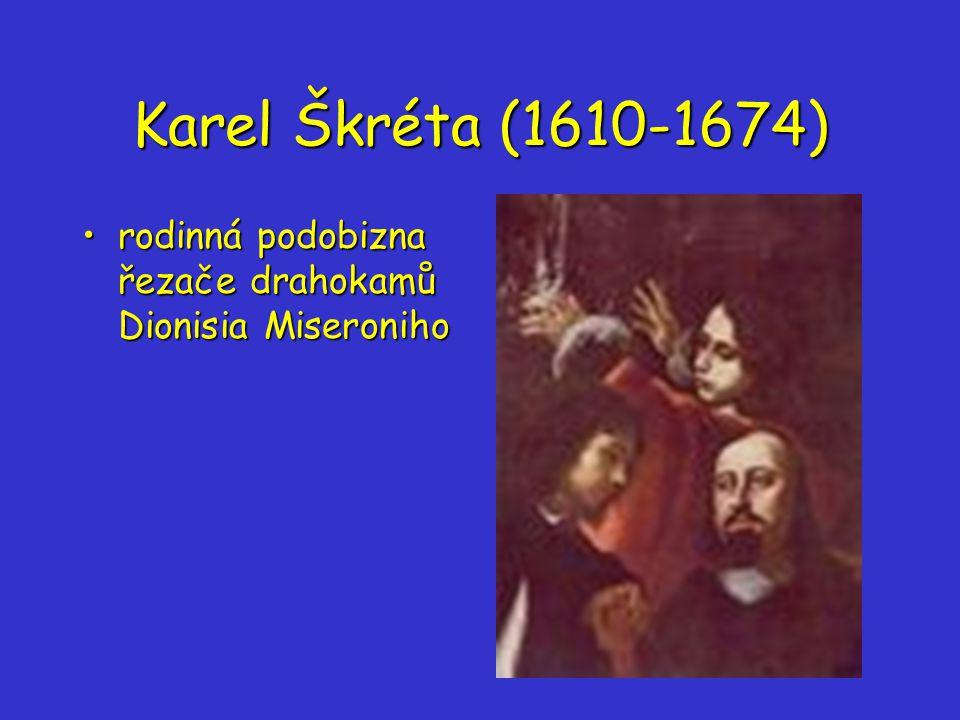 Karel Škréta (1610-1674) rodinná podobizna řezače drahokamů Dionisia Miseroniho