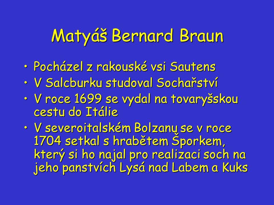 Matyáš Bernard Braun Pocházel z rakouské vsi Sautens