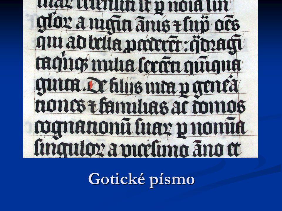 Gotické písmo