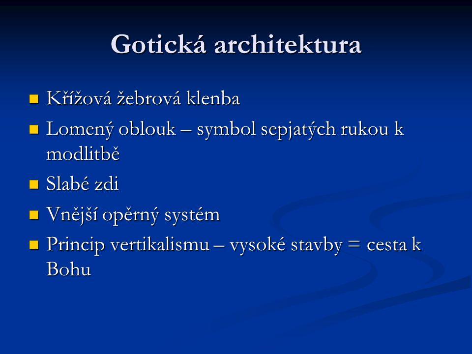 Gotická architektura Křížová žebrová klenba