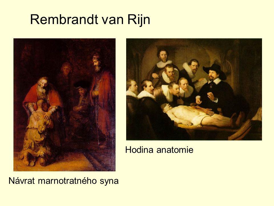 Rembrandt van Rijn Hodina anatomie Návrat marnotratného syna