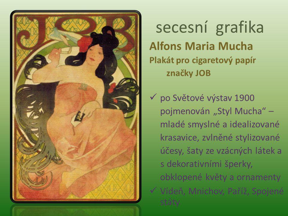 secesní grafika Alfons Maria Mucha