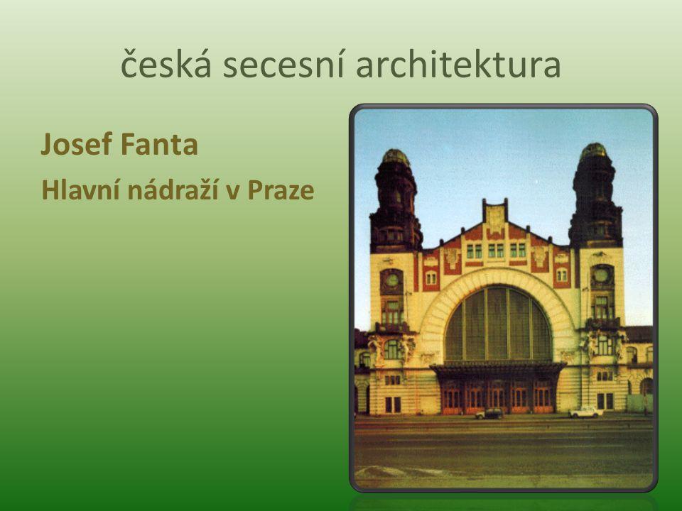 česká secesní architektura