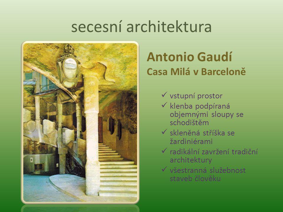 secesní architektura Antonio Gaudí Casa Milá v Barceloně