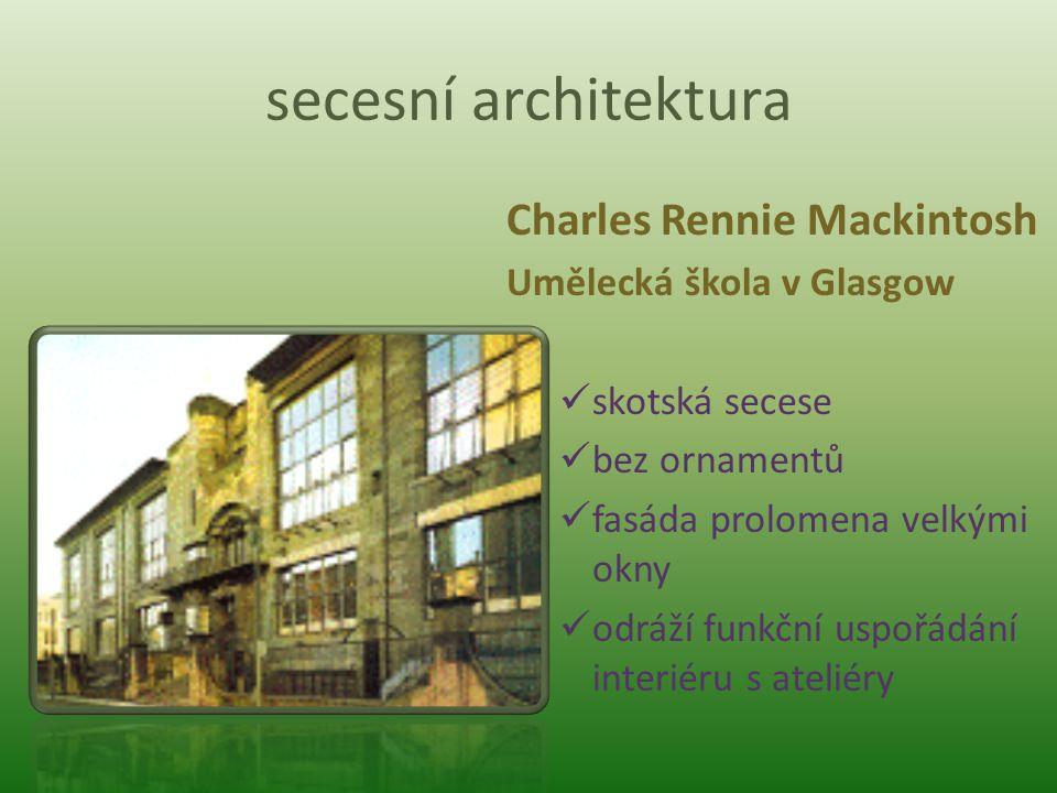 secesní architektura Charles Rennie Mackintosh