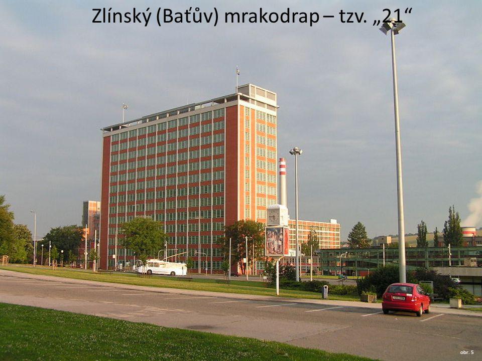 """Zlínský (Baťův) mrakodrap – tzv. """"21"""