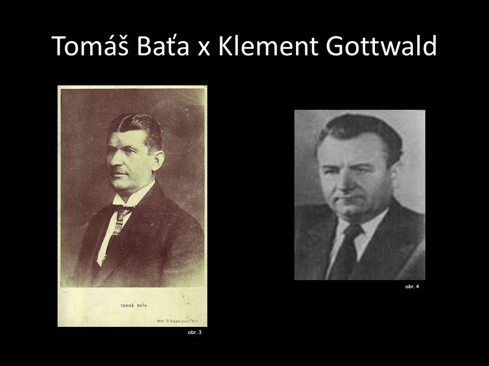 Tomáš Baťa x Klement Gottwald
